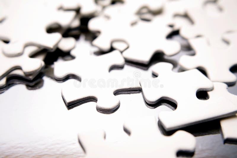 Partes do enigma de serra de vaivém fotografia de stock