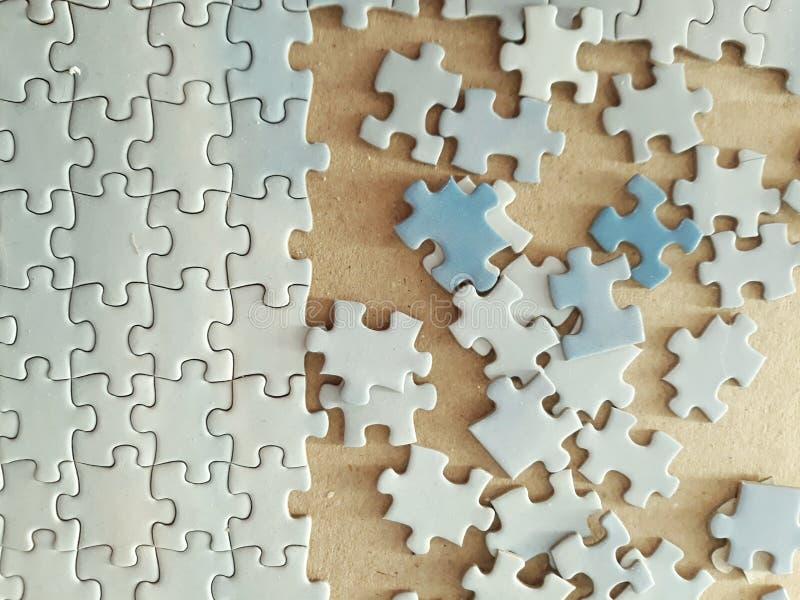 Partes do enigma de serra de vaivém imagens de stock