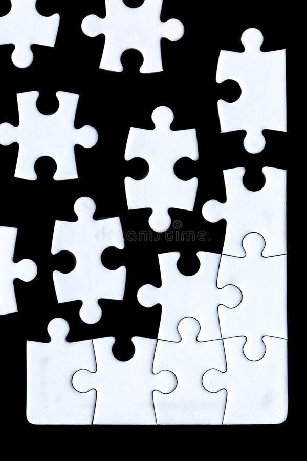 Partes do enigma que vêm junto fotografia de stock