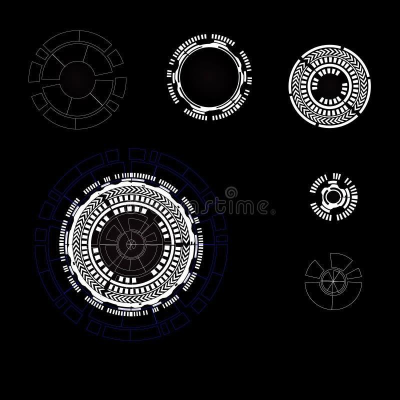 Partes do fundo da tecnologia Ilustração do vetor ilustração royalty free