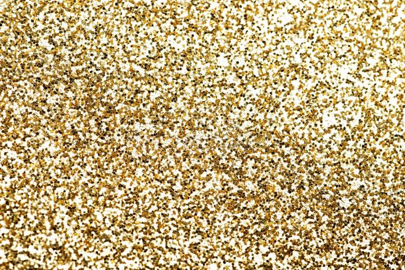 Partes do ouro de confetes. imagens de stock royalty free