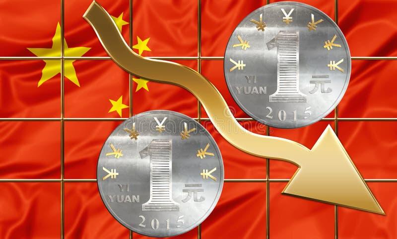 Partes financieras China ilustración del vector