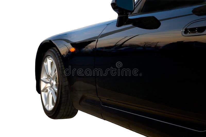 Partes frontales del coche de deportes negro foto de archivo