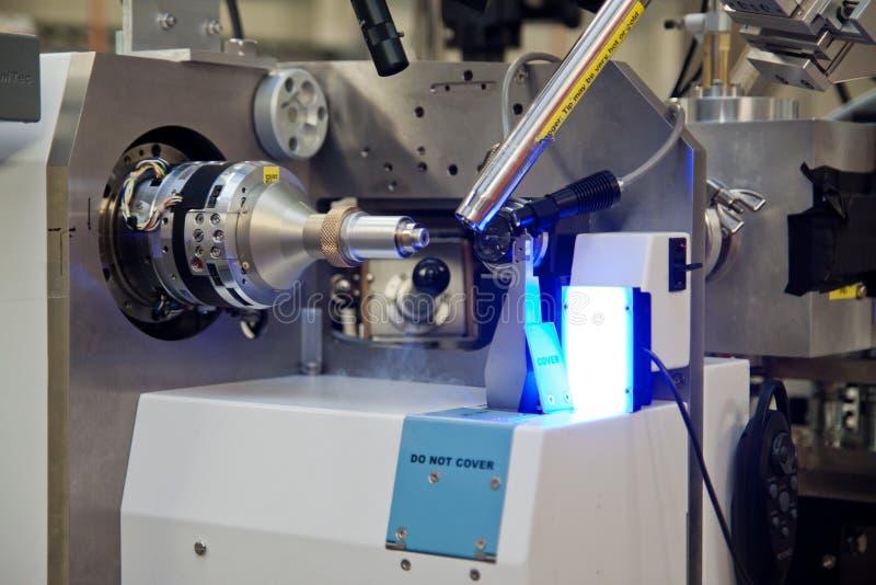 Partes interiores del acelerador de pequeña partícula imágenes de archivo libres de regalías