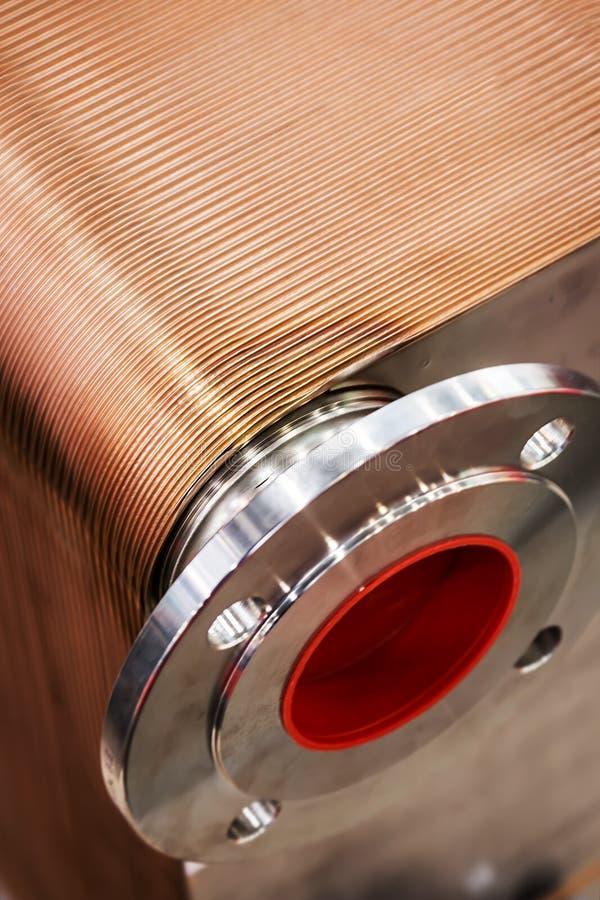 Partes operantes de los elementos de cobre del mecanismo imagen de archivo