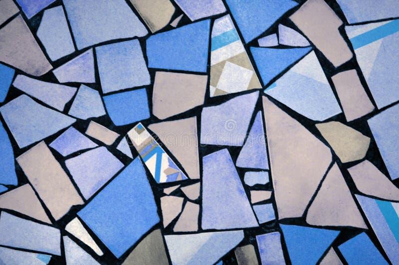 Partes quebradas coloridos de telhas imagem de stock