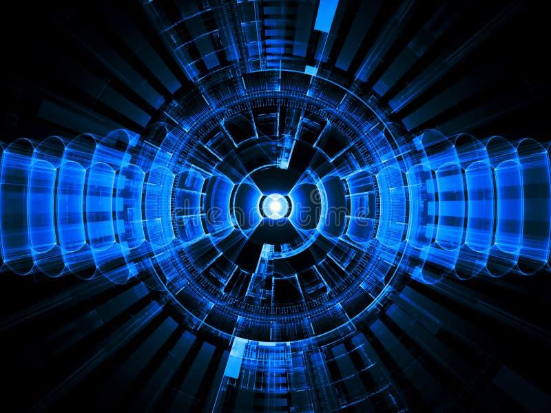 Partes radiales de la tecnología stock de ilustración