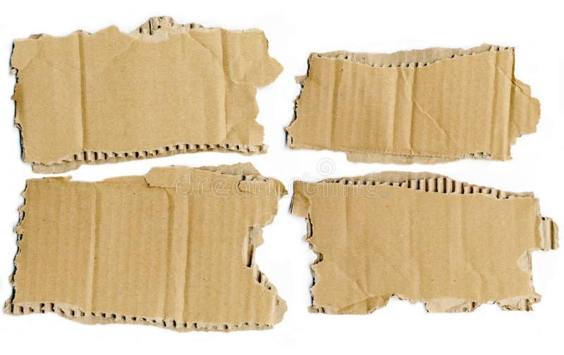 Partes rasgadas cartão foto de stock royalty free