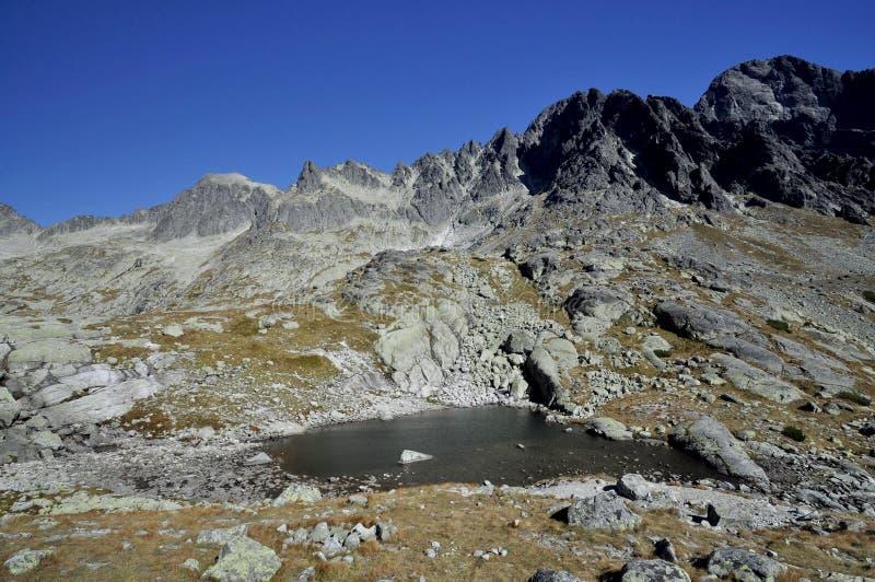 Partes superiores de montanhas elevadas de Tatras em Slovakia. foto de stock