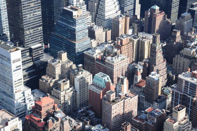 Partes superiores do telhado de Manhattan fotografia de stock