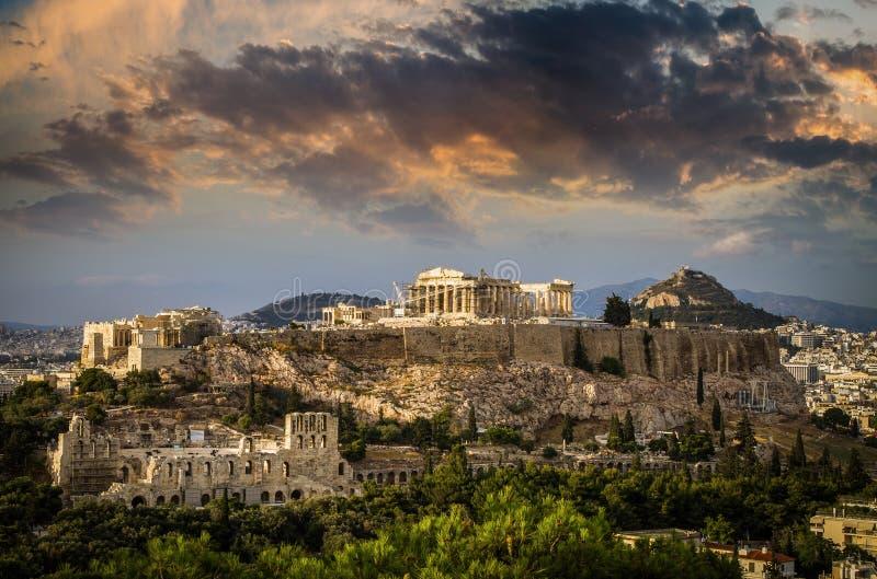 Parthenon świątynia na Ateńskim akropolu, Ateny, Grecja obraz royalty free