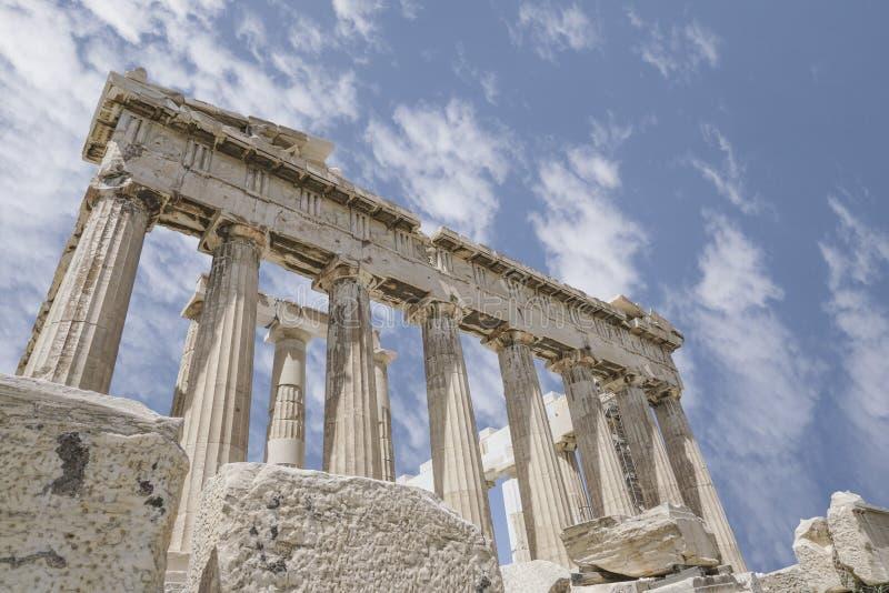 Parthenon świątynia na Ateńskim akropolu w Ateny, Grecja zdjęcie royalty free