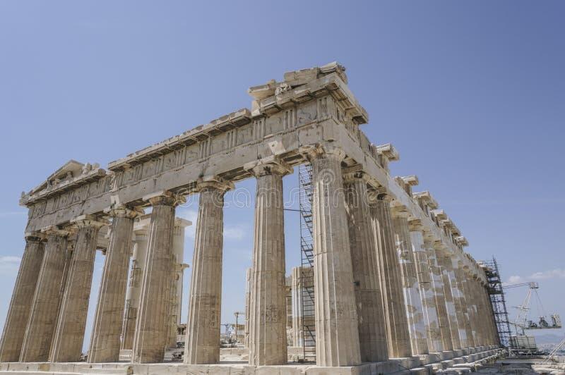 Parthenon świątynia na Ateńskim akropolu w Ateny, Grecja zdjęcia royalty free
