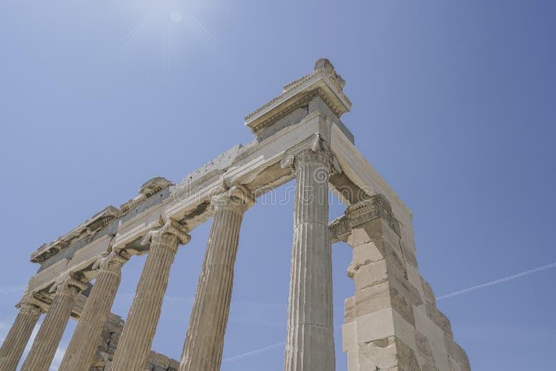 Parthenon świątynia na Ateńskim akropolu w Ateny, Grecja fotografia royalty free