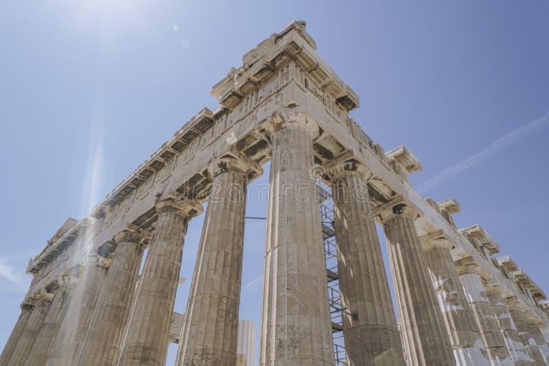 Parthenon świątynia na Ateńskim akropolu w Ateny, Grecja obraz royalty free