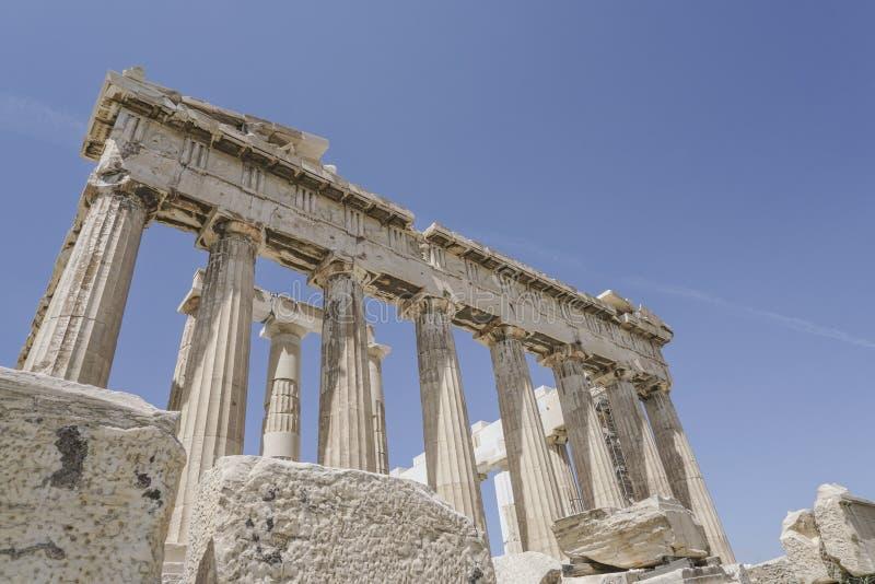 Parthenon świątynia na Ateńskim akropolu w Ateny, Grecja zdjęcia stock