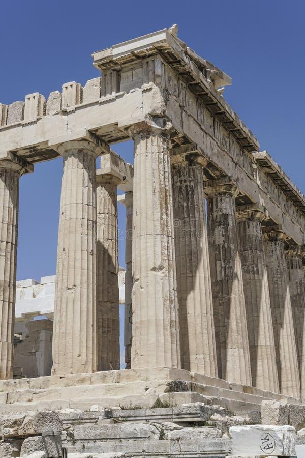 Parthenon świątynia na Ateńskim akropolu w Ateny, Grecja obrazy stock