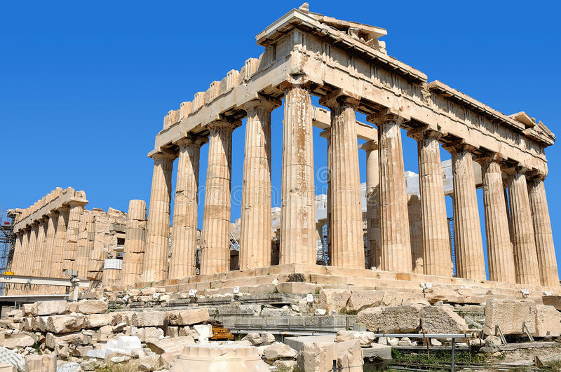 parthenon Греции стоковая фотография