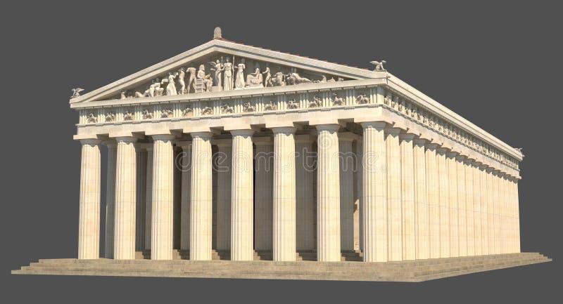 Parthenon_02 向量例证
