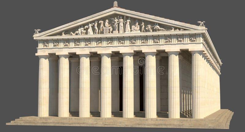 Parthenon_01 ilustração stock