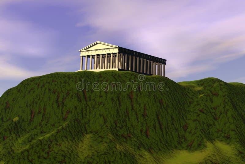 Parthenon illustration stock