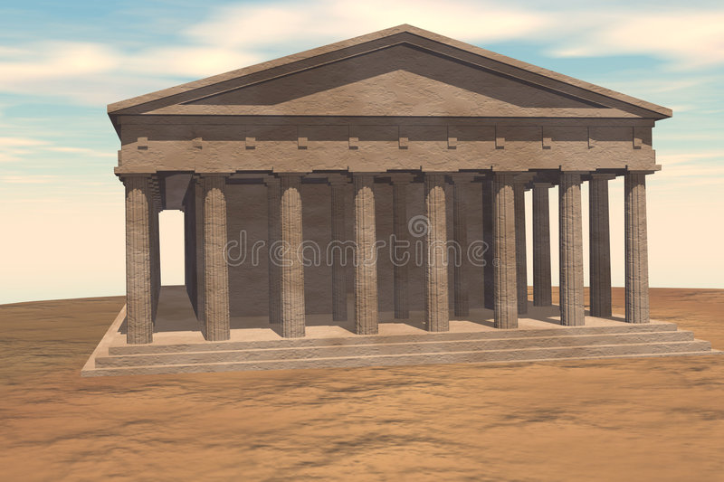 Parthenon stock illustratie