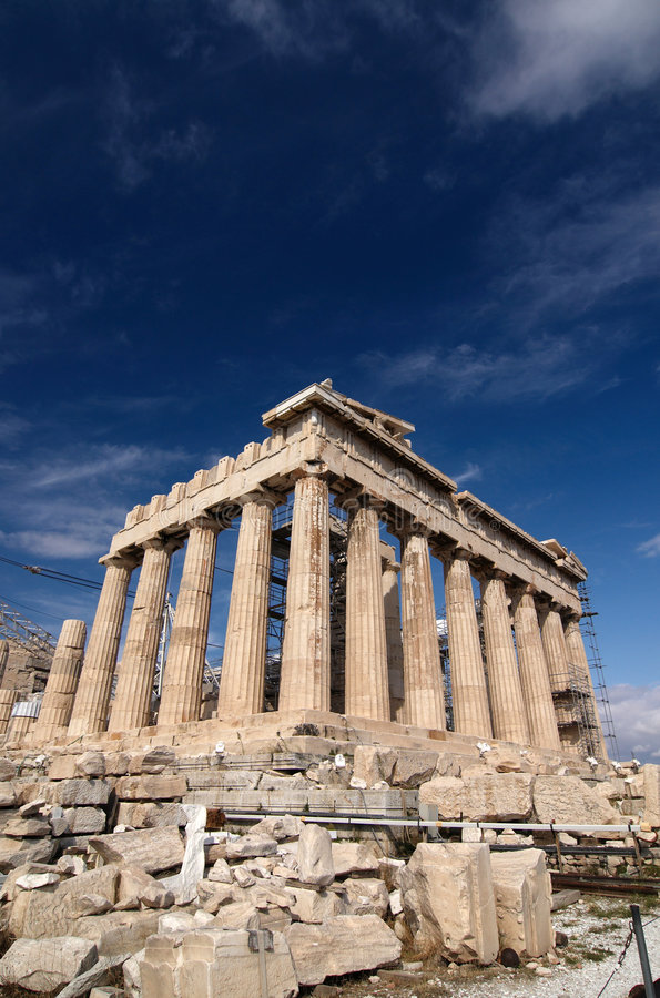Parthenon, Acropolis, foto de stock royalty free