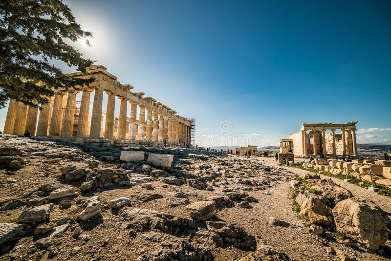Parthenon Acropolis of Athens Archaeological Place royalty free stock images