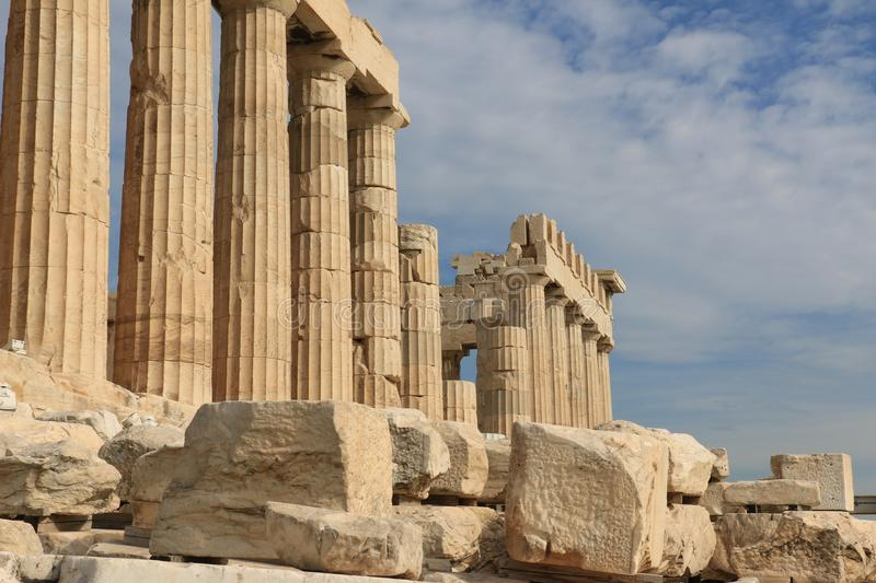 PARTHENON - ACROPOLIS - ATHENS - The history is speking stock photos