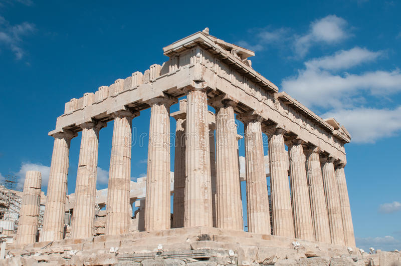 Parthenon at Acropolis Hill, Athens royalty free stock images