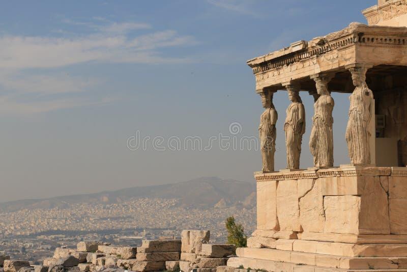 Parthenon - akropol - Aten arkivbilder