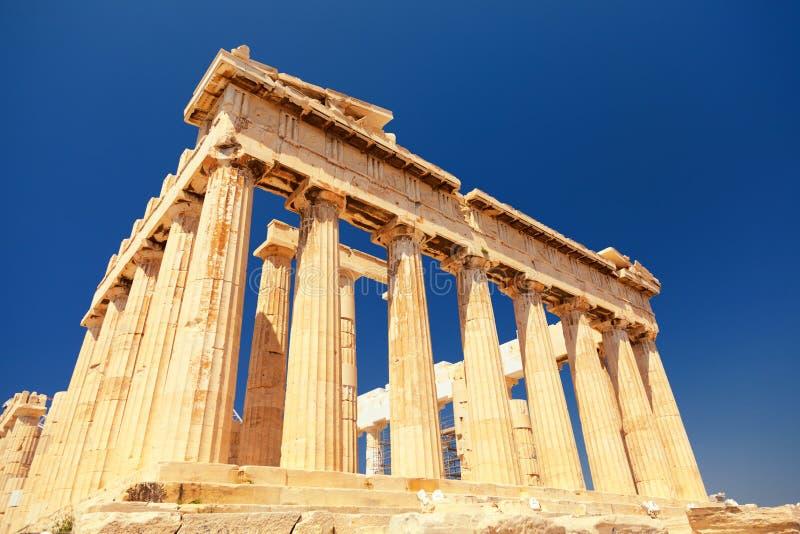 Parthenon all'acropoli, Atene fotografia stock