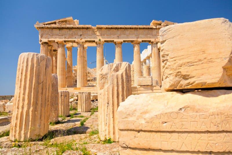 Parthenon all'acropoli, Atene immagini stock libere da diritti