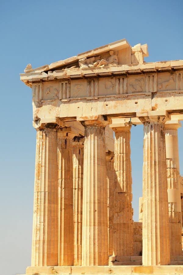 Parthenon all'acropoli, Atene fotografie stock
