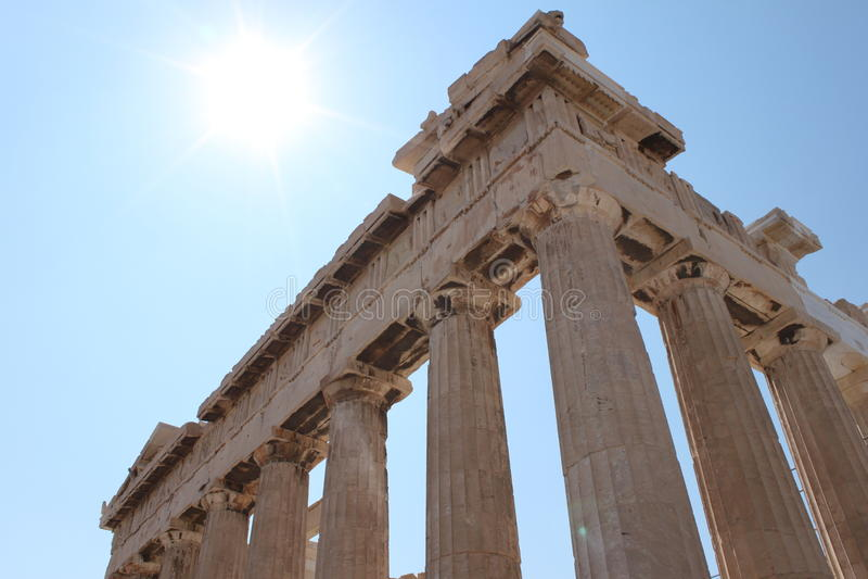 Parthenon Athen Grèce, Tample photos libres de droits