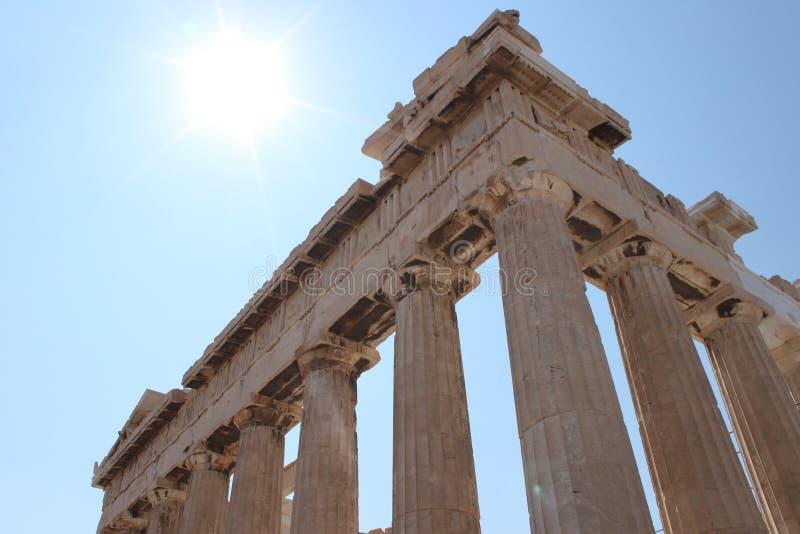 Parthenon Athen Grecia, Tample fotos de archivo libres de regalías