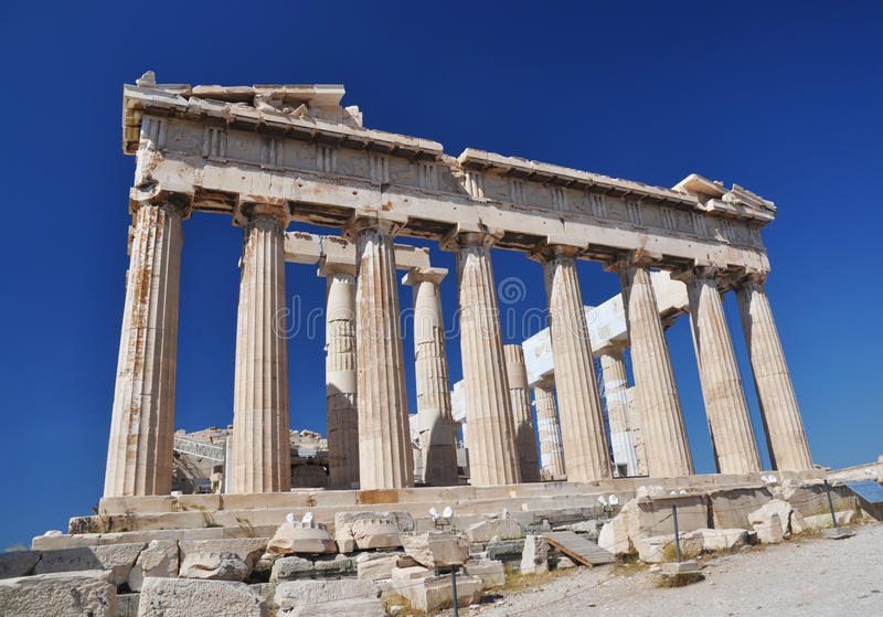 The Parthenon, Athena, Greece. The Parthenon (Ancient Greek: is a temple in the Athenian Acropolis, Greece, dedicated to the Greek goddess Athena, whom the stock images