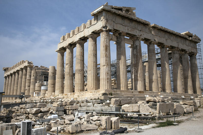 Parthenon in Athene Griekenland stock afbeelding