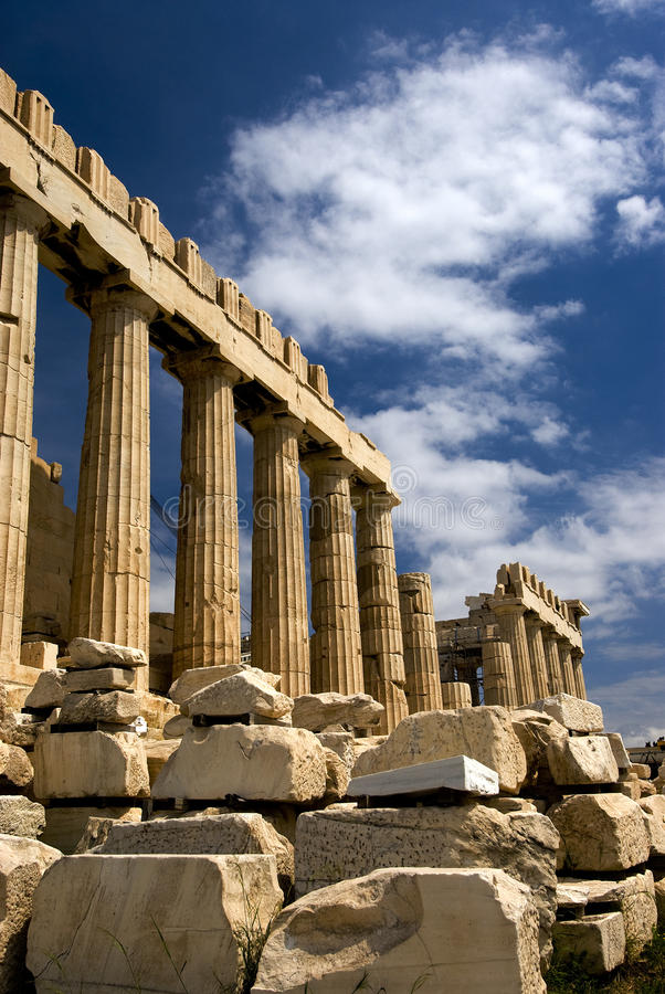 The Parthenon in Athens royalty free stock photography