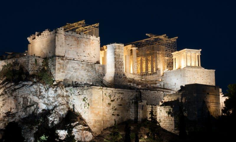 Parthenon, colina de la acrópolis, Atenas fotos de archivo libres de regalías