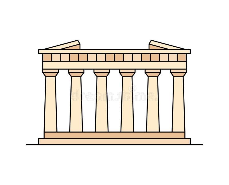 Parthenon dans l'icône d'Athènes illustration stock