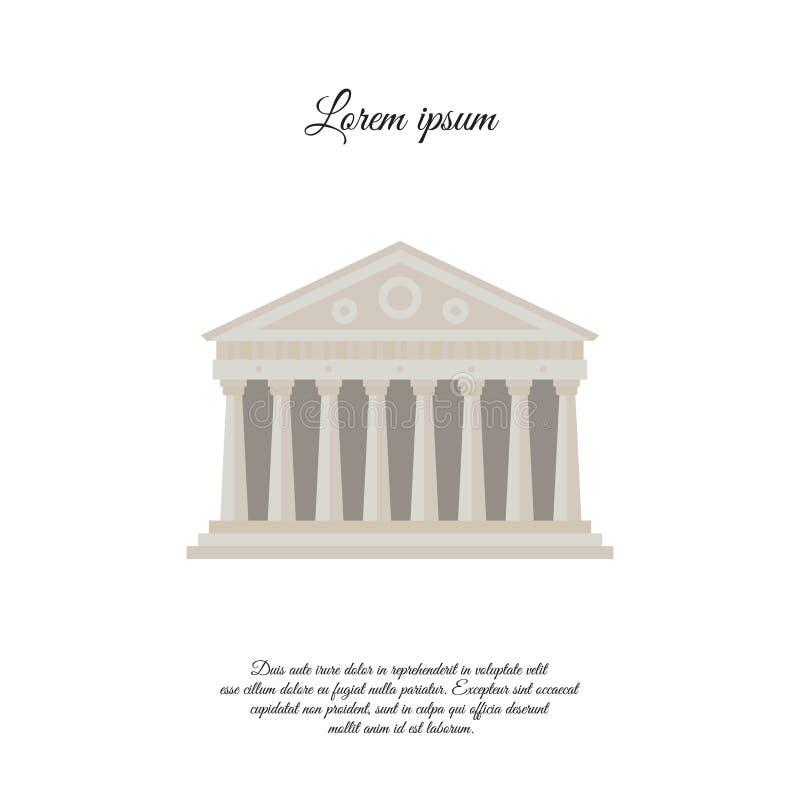 Parthenon dans l'icône de vecteur de couleur d'Athènes, signe illustration de vecteur