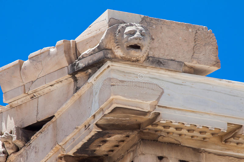 Parthenon de la acrópolis de Atenas fotografía de archivo libre de regalías