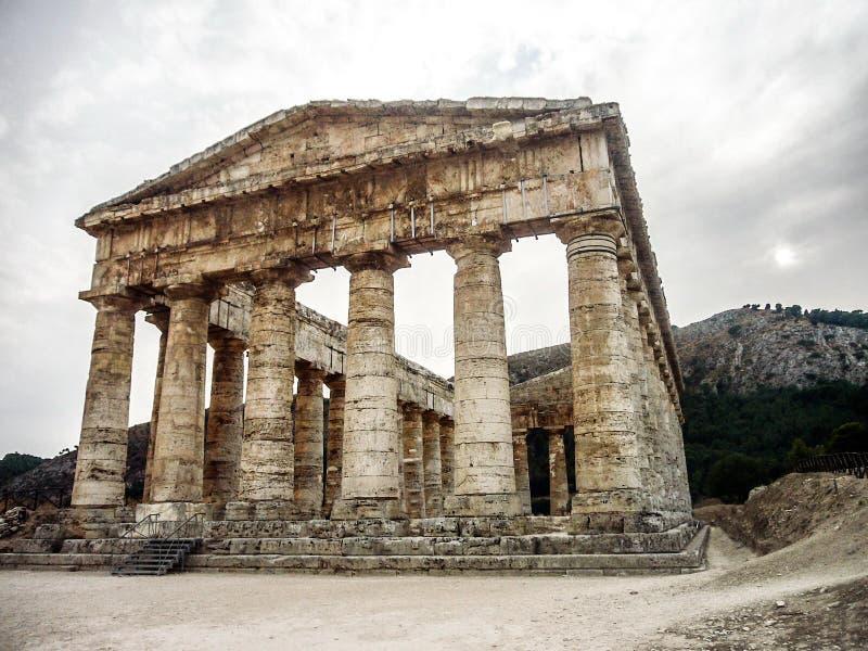 Parthenon de la Sicile image libre de droits