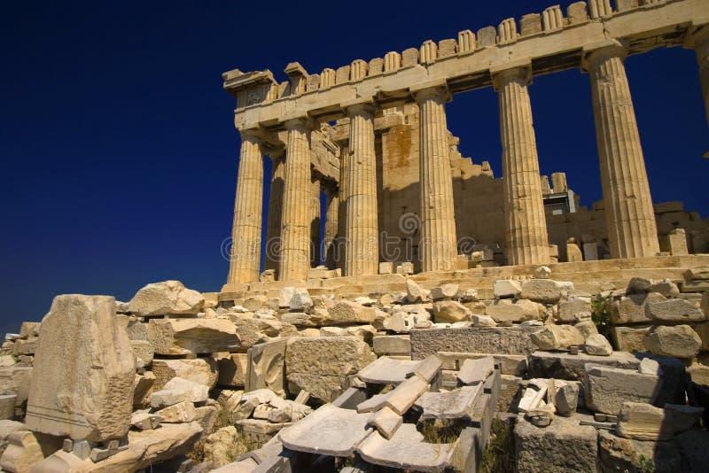 Parthenon, de Tempel van Athena royalty-vrije stock afbeelding