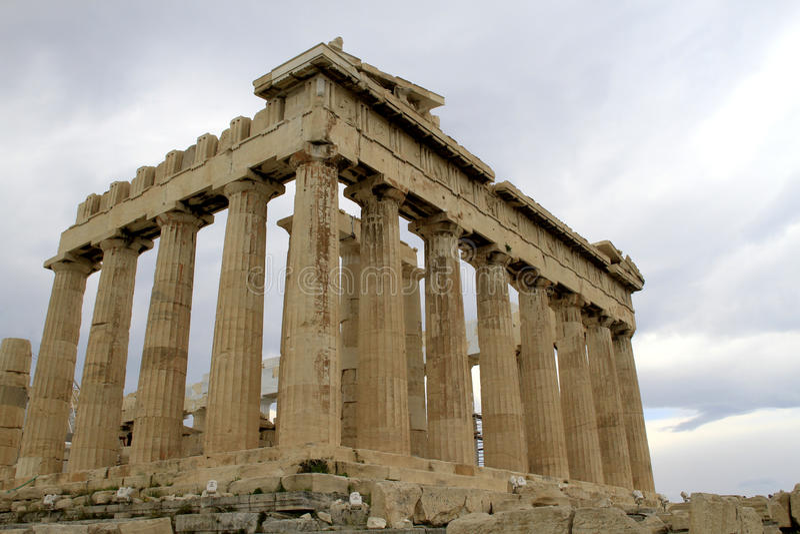 Parthenon do Acropolis em Atenas, Greece imagem de stock royalty free
