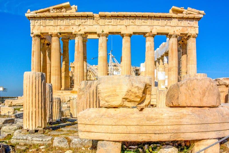 Parthenon en Atenas, Grecia imagenes de archivo