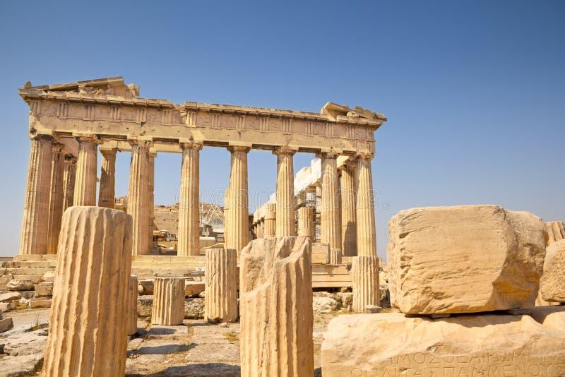Parthenon i Aten, Grekland fotografering för bildbyråer