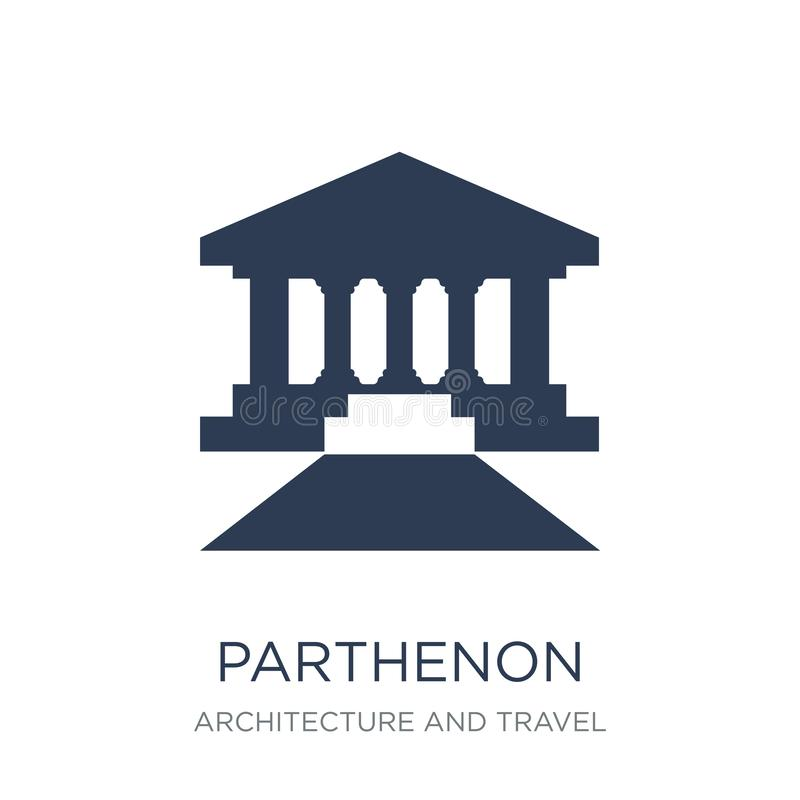 Parthenon icon. Trendy flat vector Parthenon icon on white background from Architecture and Travel collection royalty free illustration