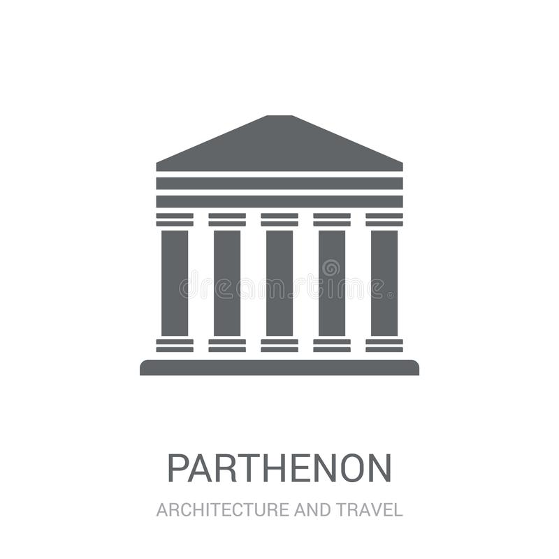 Parthenon icon. Trendy Parthenon logo concept on white background from Architecture and Travel collection royalty free illustration